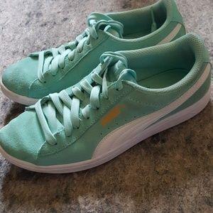 Puma Suede Aqua Women's Tennis Sneakers Sz 7.5